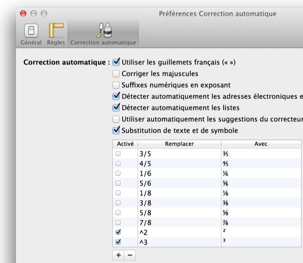 Gestion des substitutions dans Pages.