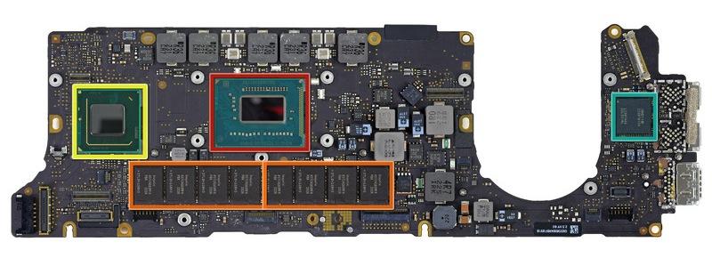le macbook pro retina cache son ssd sous trackpad