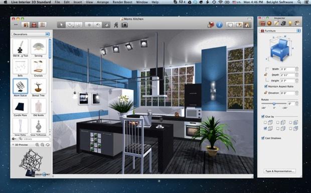 Live interior 3d se met au retina macgeneration - Progetti di interior design ...