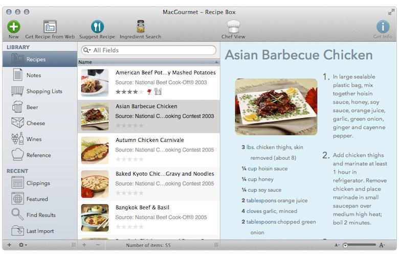 Macgourmet 4 synchronise ses recettes avec l iphone for Logiciel cuisine plus