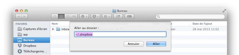 Situé à la racine de votre dossier utilisateur (~), ce dossier est normalement caché (il commence par un point).