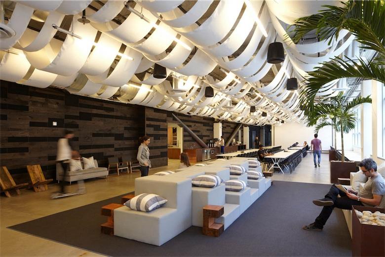Les (luxueux) locaux de Dropbox à San Francisco. Image Boor Bridges Architecture.