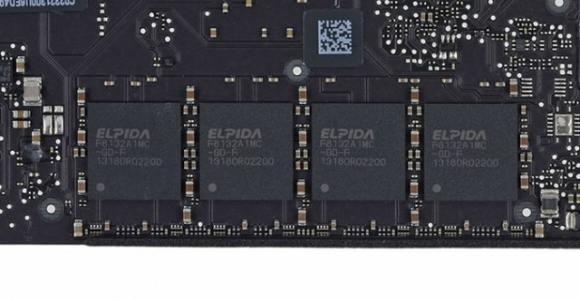 La mémoire LPDDR3 au coeur des MacBook Air (iFixit)