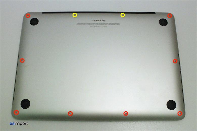 pas pas d monter l 39 ensemble cran d 39 un macbook pro retina 13 pouces 2012 macgeneration. Black Bedroom Furniture Sets. Home Design Ideas