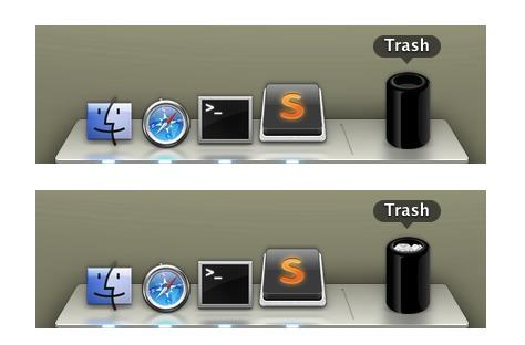 Utilisez le Mac Pro comme corbeille dans votre Dock