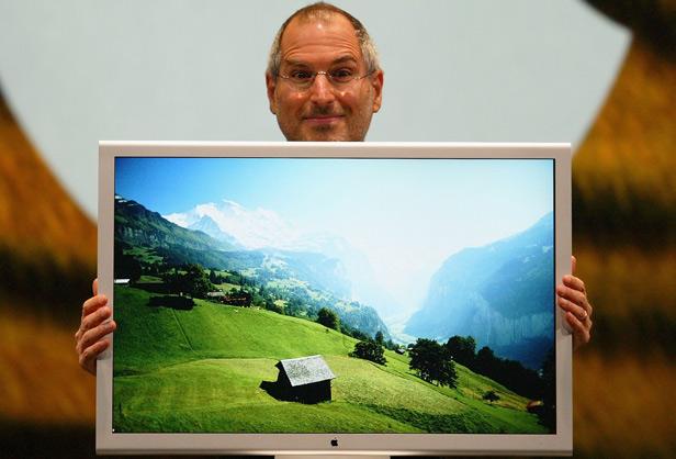 Steve Jobs et le (superbe) Cinema Display 30 pouces.