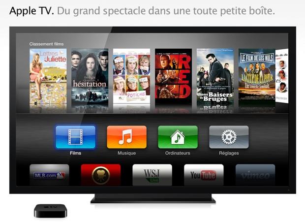 ad916838e6ca Apple a sa propre solution avec l Apple TV, un petit boîtier très discret  qui offre un accès au catalogue de l iTunes Store, mais aussi à vos propres  vidéos ...