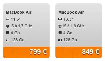refurb baisse de prix sur les macbook air pro et ipad