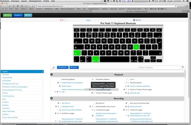 Les raccourcis clavier de pro tools en ligne macgeneration for Raccourci clavier agrandir fenetre windows 7