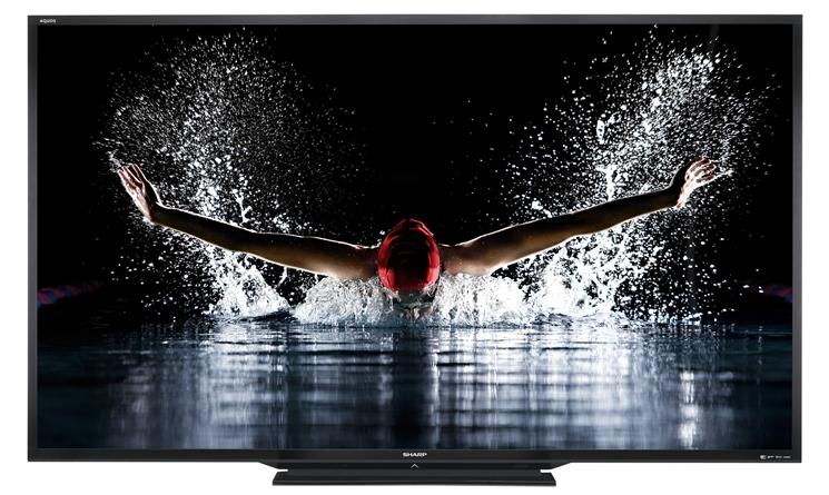 Un téléviseur Sharp Aquos Quattron. Image Sharp.
