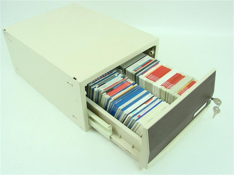 Ca, c'était l'informatique avant les CD-Rom !