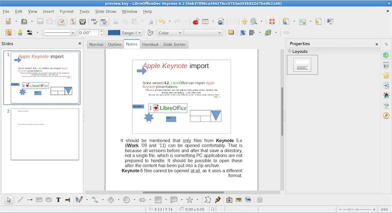 Libreoffice 4 2 ouvre les fichiers keynote macgeneration - Telecharger libre office gratuitement ...