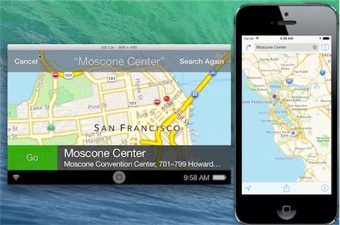 iOS in the car depuis le simulateur d'Apple