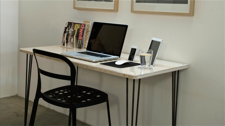 kickstarter un bureau con u pour le mac avec un dock iphone ipad encastr macgeneration. Black Bedroom Furniture Sets. Home Design Ideas