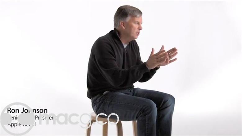 Une capture d'une des nombreuses vidéos distribuées en interne dans laquelle Ron Johnson intervient. Image MacGeneration.