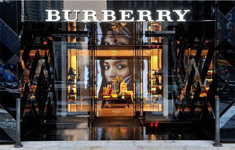 Une boutique Burberry en Chine.